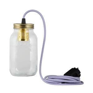 Lampa JamJar Lights, biało-fioletowy okrągły kabel