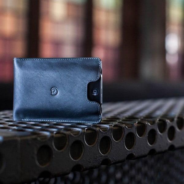 Danny P. skórzany portfel z kieszenią na iPhone 5 Black