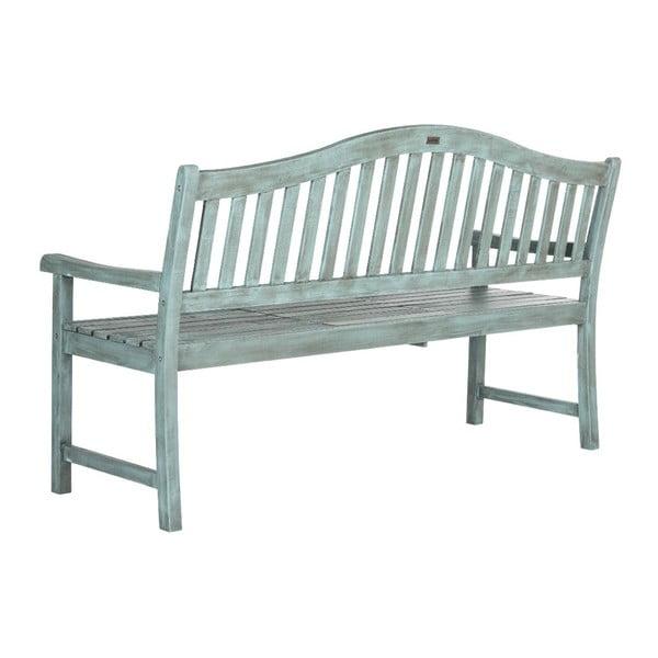 Niebieska ławka ogrodowa Safavieh Bailey
