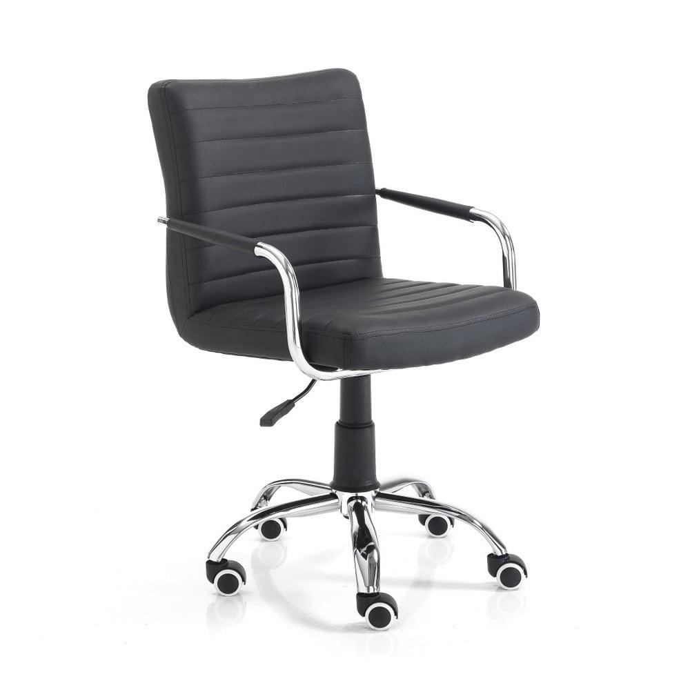 Czarne krzesło biurowe na kółkach Tomasucci Milko