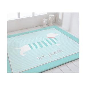 Niebieski dywan do pokoju dziecięcego Pooch Mr Pooch, 90x110cm