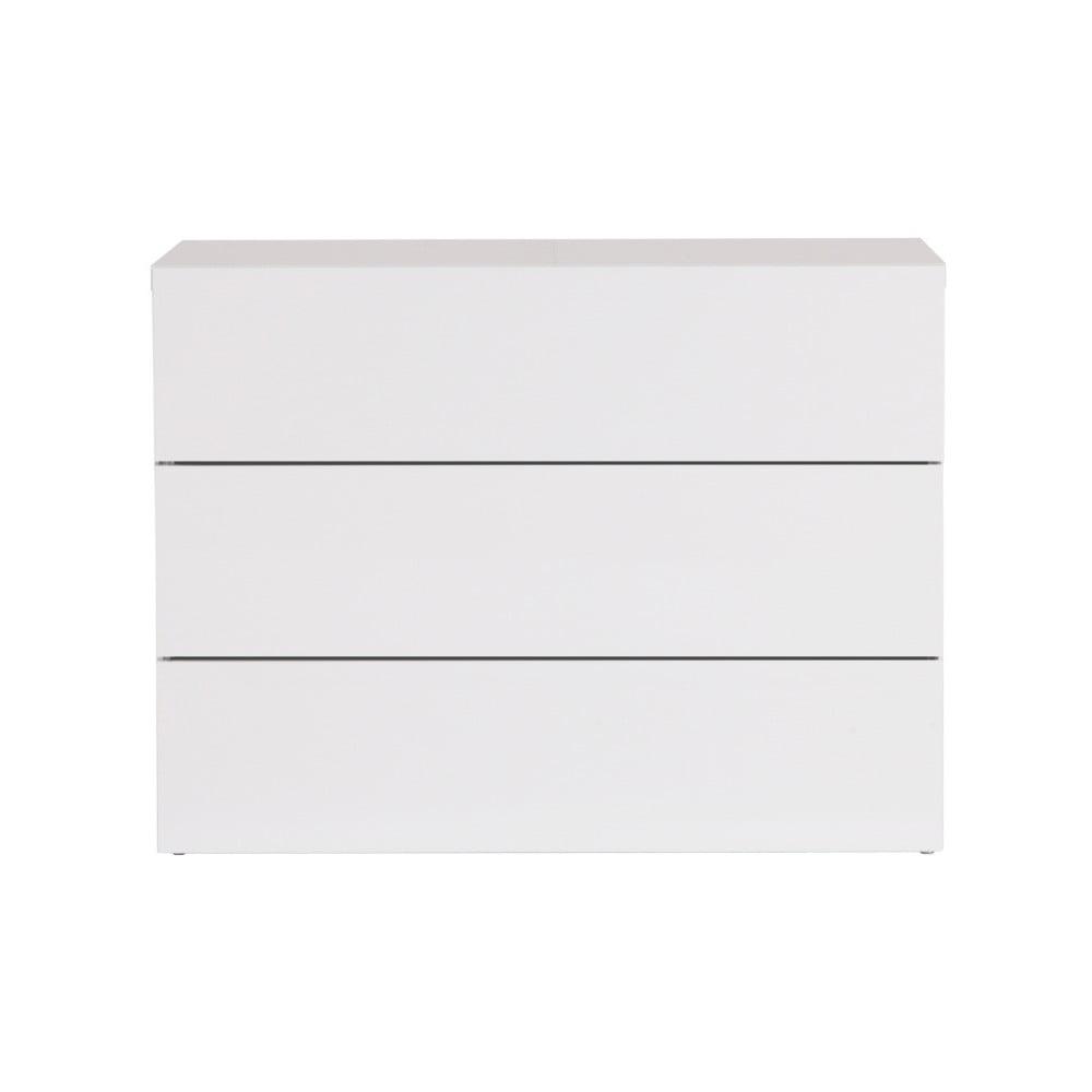 Biały komoda z 3 szufladami TemaHome Aurora