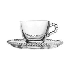 Szklana filiżanka ze spodkiem Côté Table Pearls