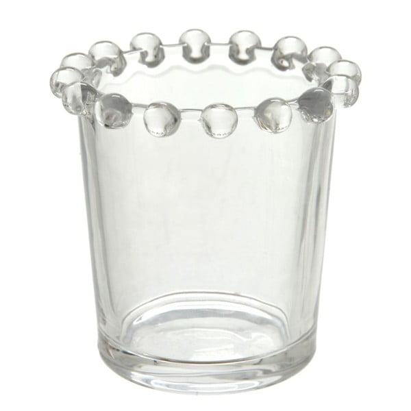 Świecznik Pearl Glass, 7x7 cm