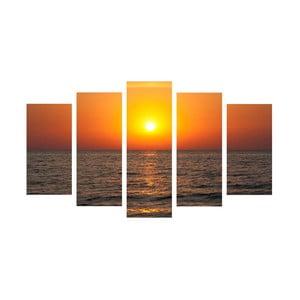 5-częściowy obraz Sun & Sea, 60x100 cm