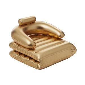 Składany fotel dmuchany w złotej barwie Sunvibes Dorée