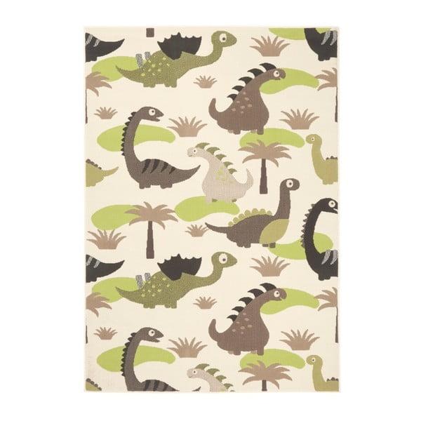 Zielono-brązowy dywan dziecięcy Zala Living Dino, 140x200 cm