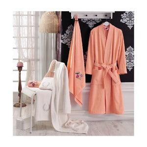 Rodzinny zestaw szlafroków i ręczników Family Coral