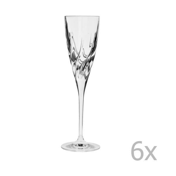 Komplet 4 kieliszków na szampana Crystal Bettina