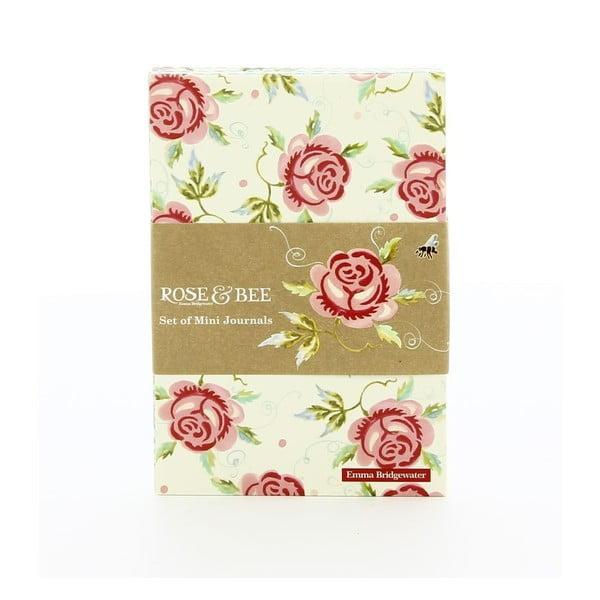 Zestaw 3 notesów Rose Bee A7