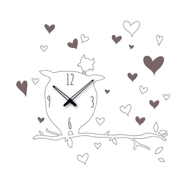 Samoprzylepny zegar Sowa