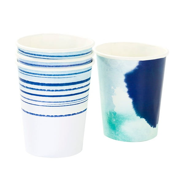 Zestaw 12 kubeczków papierowych Talking Tables Coast