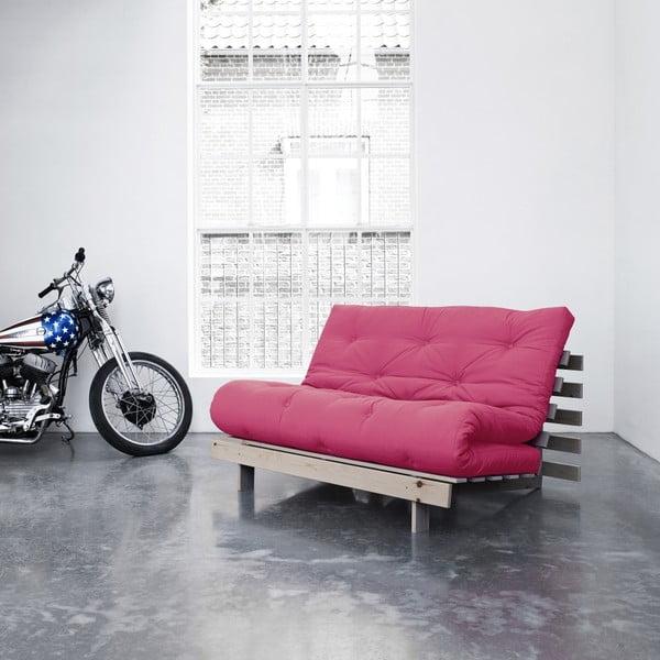 Sofa rozkładana Karup Roots Raw/Magenta