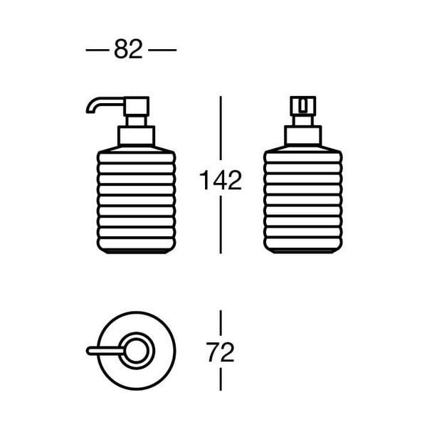 Dozownik mydła Mat White Soap, 8x14x7 cm