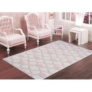 Wytrzymały dywan w kolorze pudrowym Vitaus Scarlett, 60x90 cm