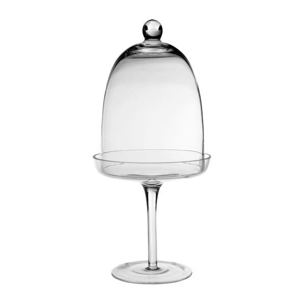 Mała szklana patera z kloszem  Côté Table Stemmed Bell