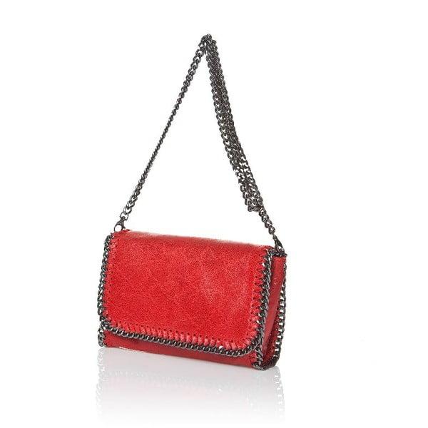 Skórzana torebka Chain Red