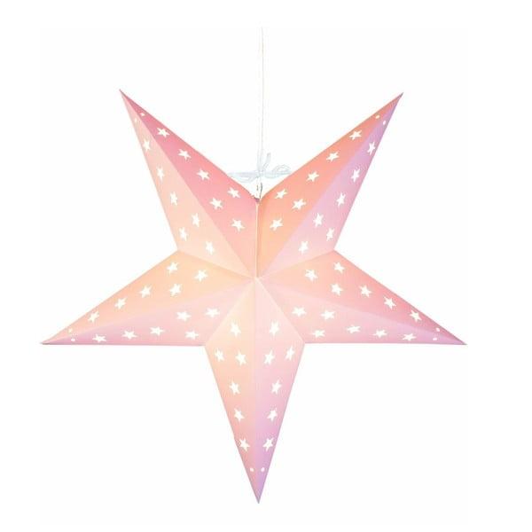Świecąca gwiazda ze stojakiem Star Pink, 43 cm