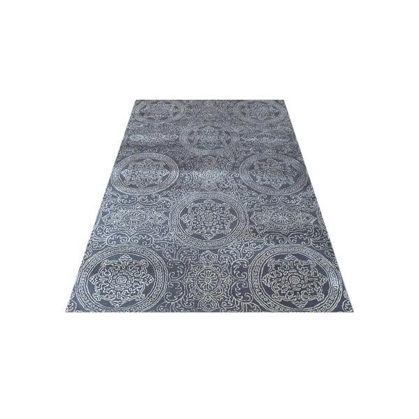 Szary dywan tkany ręcznie Ring, 140x200 cm