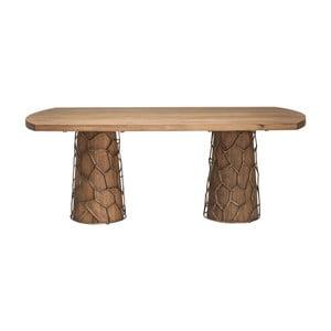 Stół do jadalni z drewna akacjowego Kare Design Brass