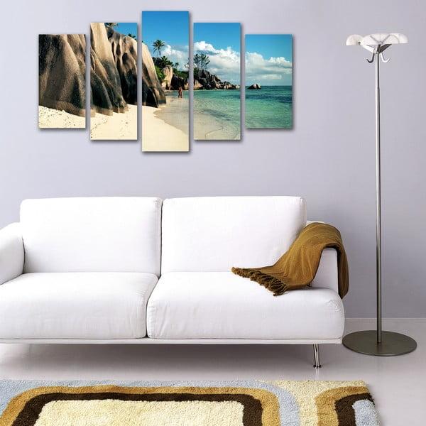 Pięcioczęściowy obraz Na brzegu