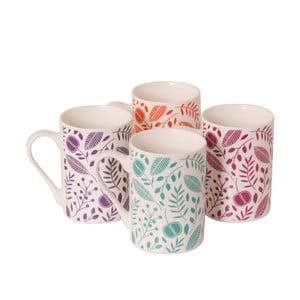 Komplet 4 porcelanowych kubków Arabella