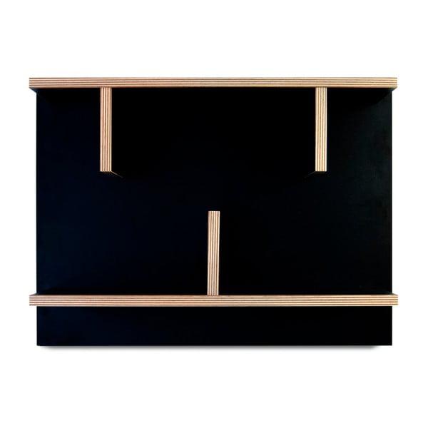 Czarny system półek ściennych TemaHome Bern, 60 cm