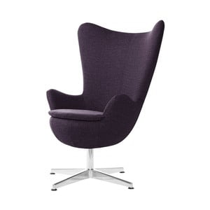Fioletowy fotel obrotowy My Pop Design Indiana