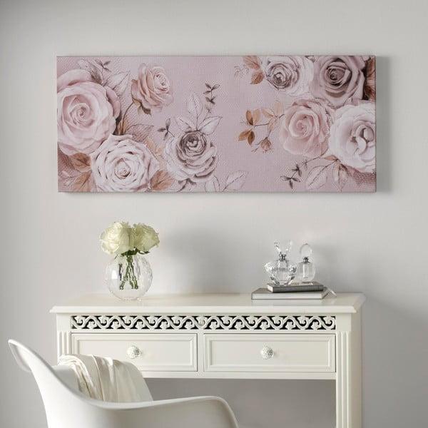Obraz Graham & Brown Rose Trail, 100x40 cm
