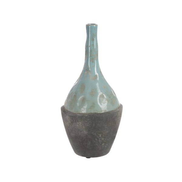 Wazon Bottle In Grey and Blue 35 cm
