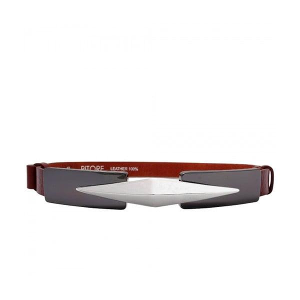 Regulowany pasek skórzany Royc czerwonobrązowy, 66-100 cm