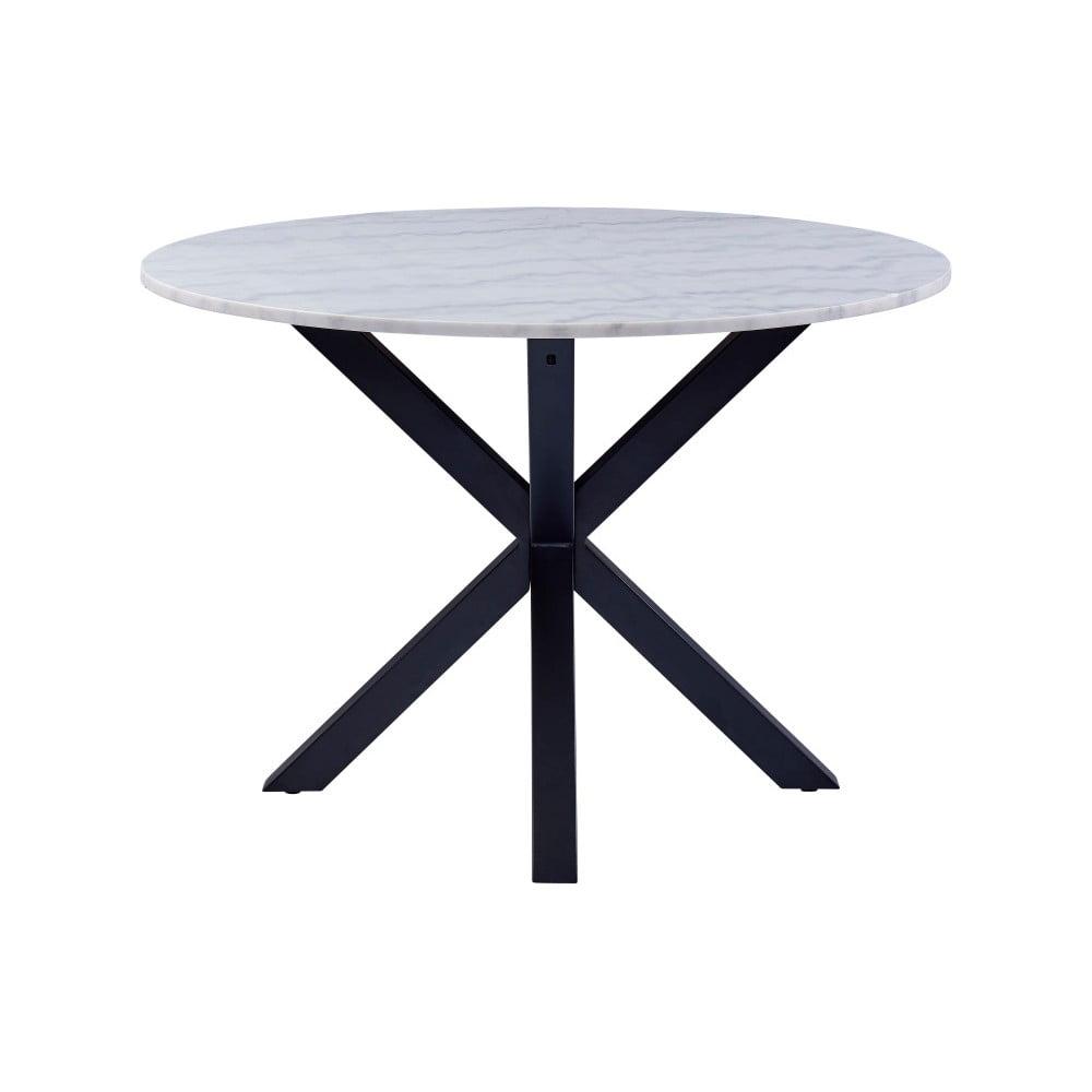 Stół z marmurowym blatem Actona Heaven, ⌀ 110 cm