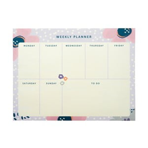 Planer tygodniowy Busy B Planner Pretty/Floral, 60 kart