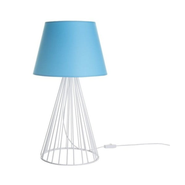 Lampa stołowa Wiry Blue/White