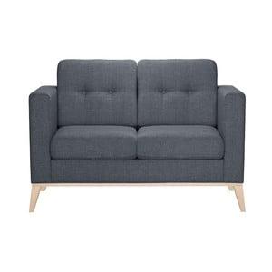Szaroniebieska sofa dwuosobowa Stella Cadente Recife