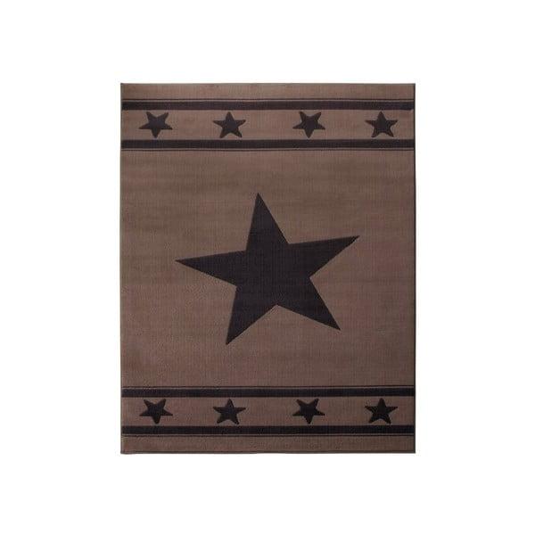 Brązowy dywan dziecięcy Hanse Home Gwiazda, 140x200 cm