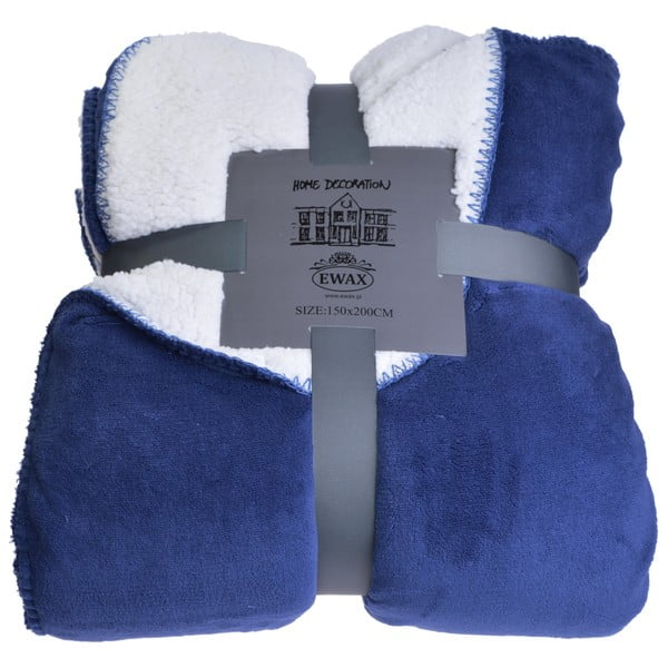 Pled Blue and Cream, 150x200 cm