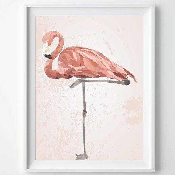 Plakat Pink Flamingo, A3