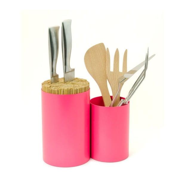 Stojak na noże i akcesoria kuchenne Knife&Spoon Pink