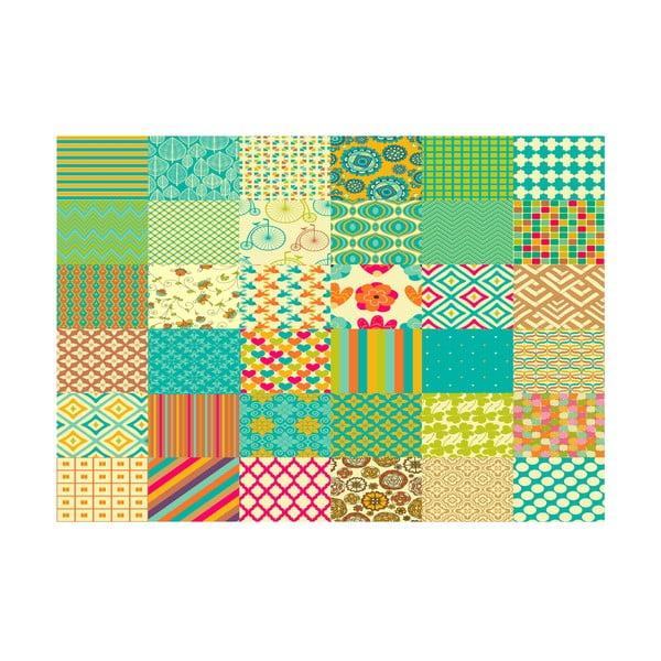 Winylowy dywan Cuadros Texturas Retro, 100x150 cm