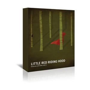 Obraz na płótnie Red Riding Hood With Text