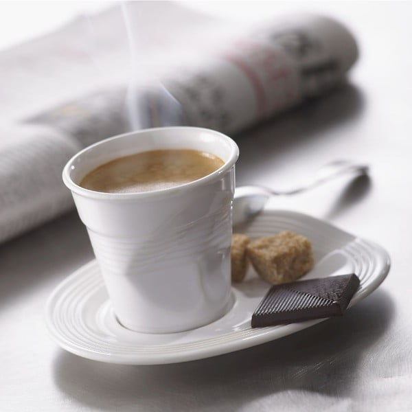 Filiżanka na espresso Froisses 8 cl, biała
