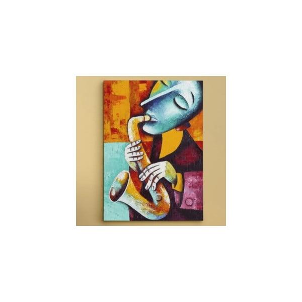 """Obraz na płótnie """"Saksofonista"""", 50x70 cm"""