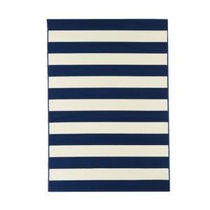 Niebieski wytrzymały dywan Stripes, 133 x 190 cm