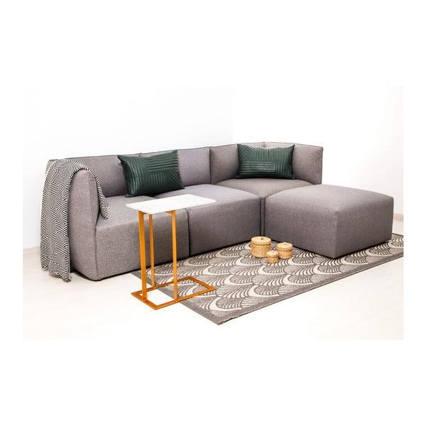 Szara 3-osobowa sofa modułowa z podnóżkiem Vivonita Cube