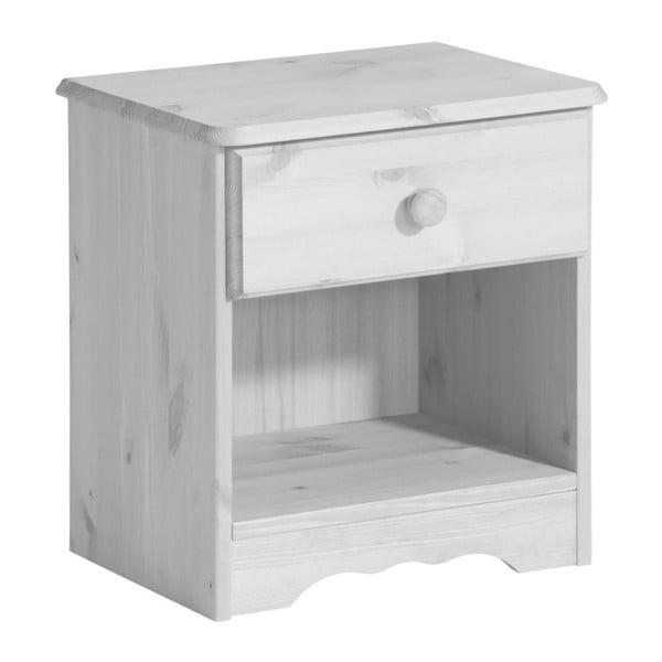 Biała szafka nocna z szufladą 13Casa Helga