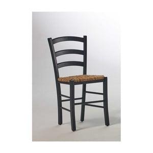 Czarne krzesło z drewna sosnowego SOB Palerma