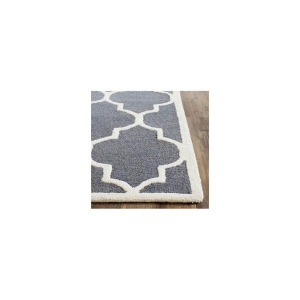 Wełniany dywan Everly 152x243 cm, szary