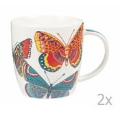 Zestaw 2 kubków Churchill China Paradise Butterflies, 390 ml