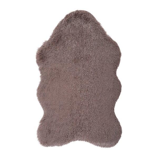 Brązowy dywan ze skóry ekologicznej Floorist Soft Bear, 160x200 cm